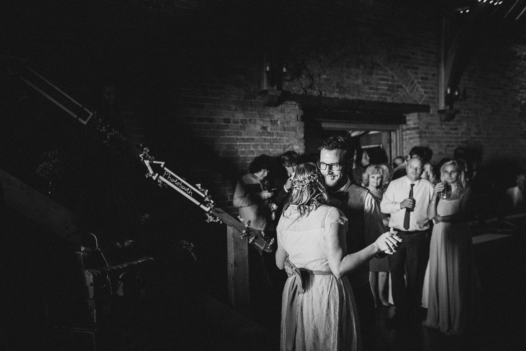 creative first dance wedding photo