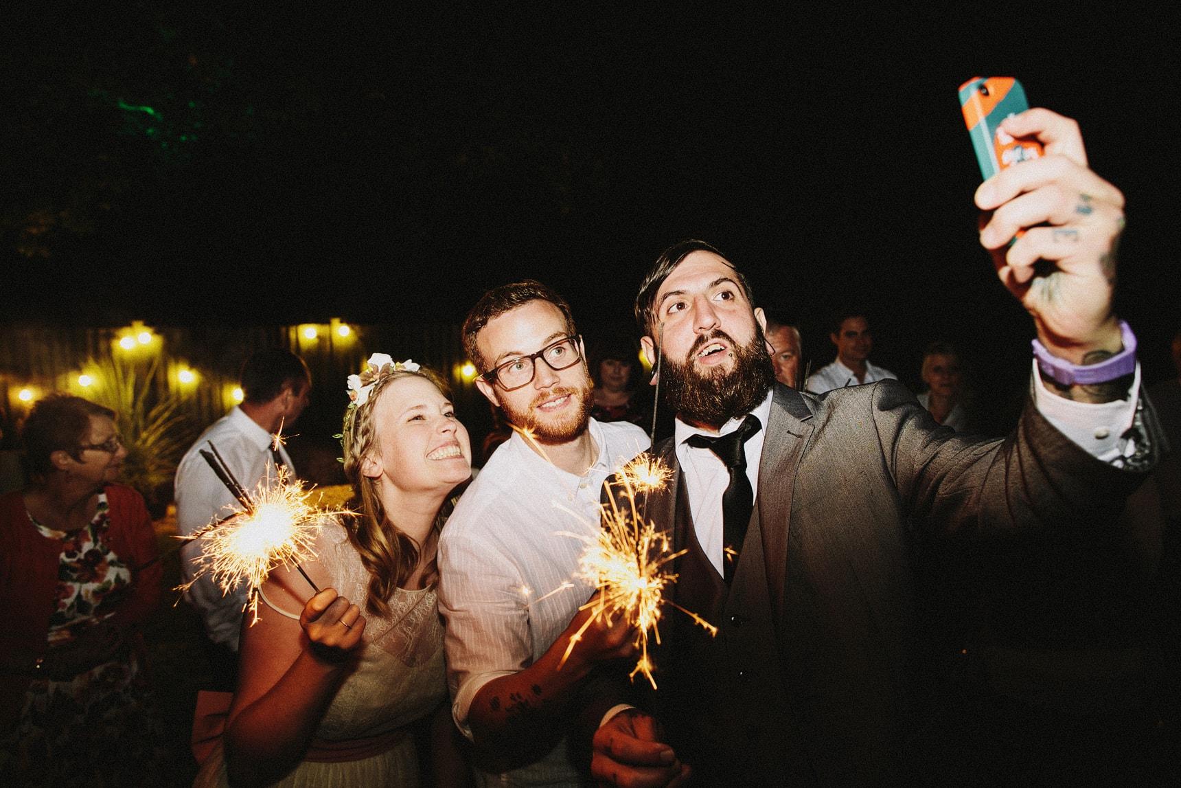 wedding sparklers photography