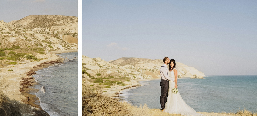 aphrodites rock wedding portraits