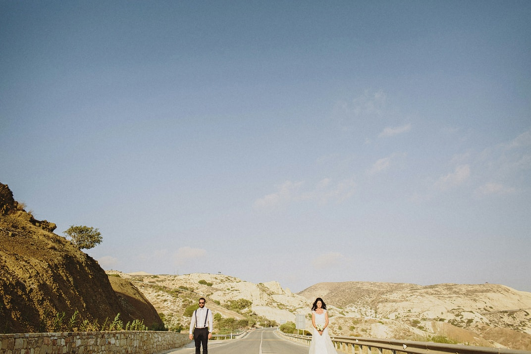 aphrodites rock cyprus wedding portraits