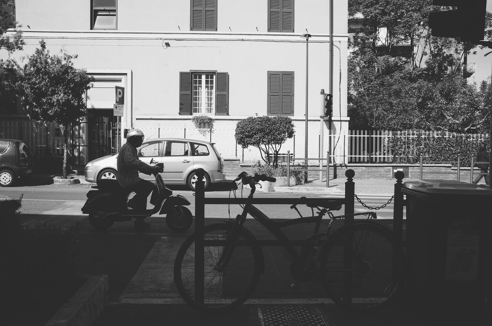 a mixture of photography in rome