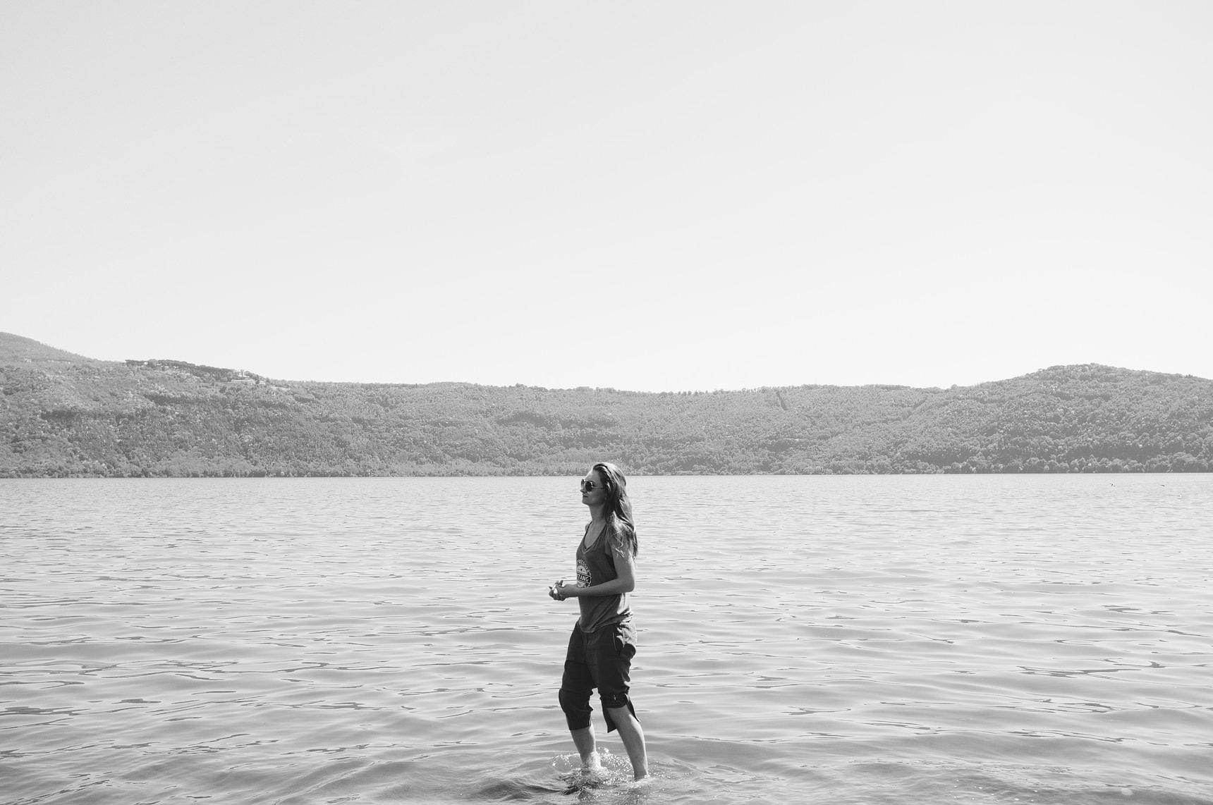 lake lago albano near rome