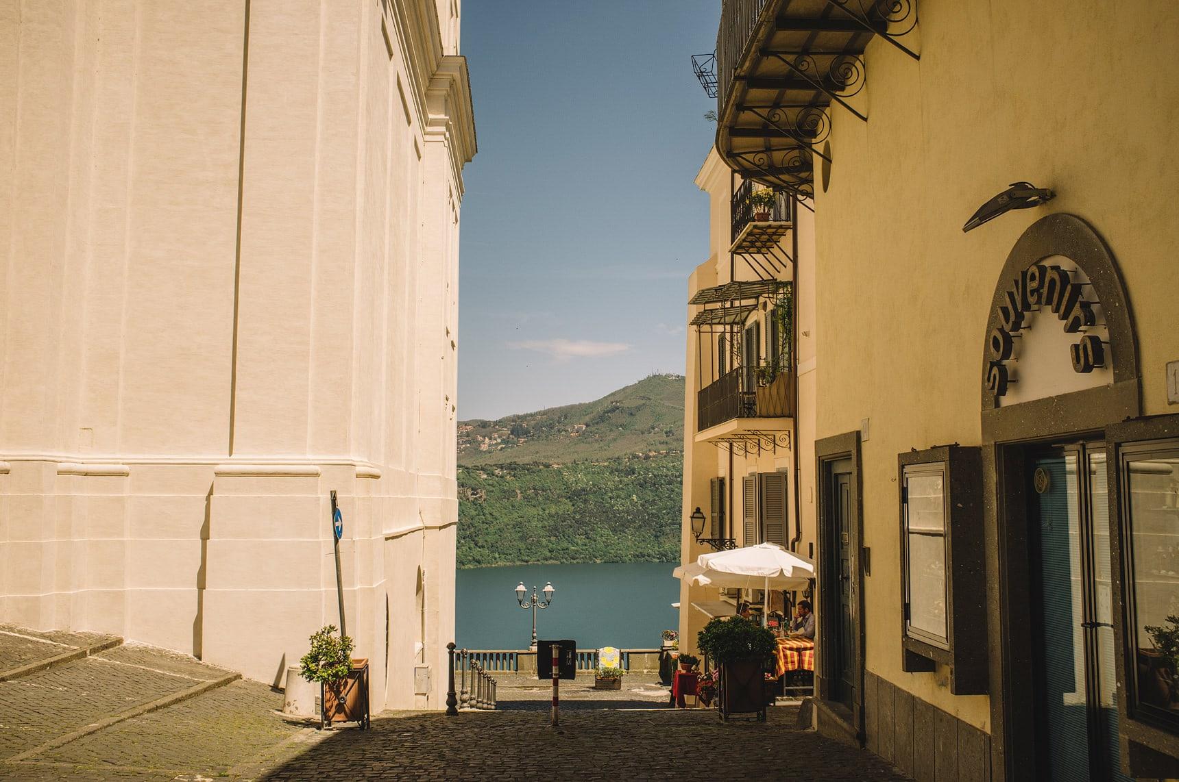 lake lago albano italy