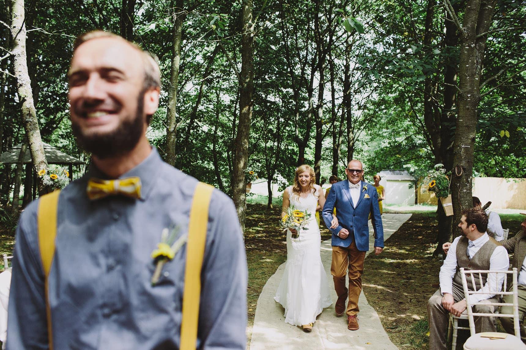 alternative wedding in the woods