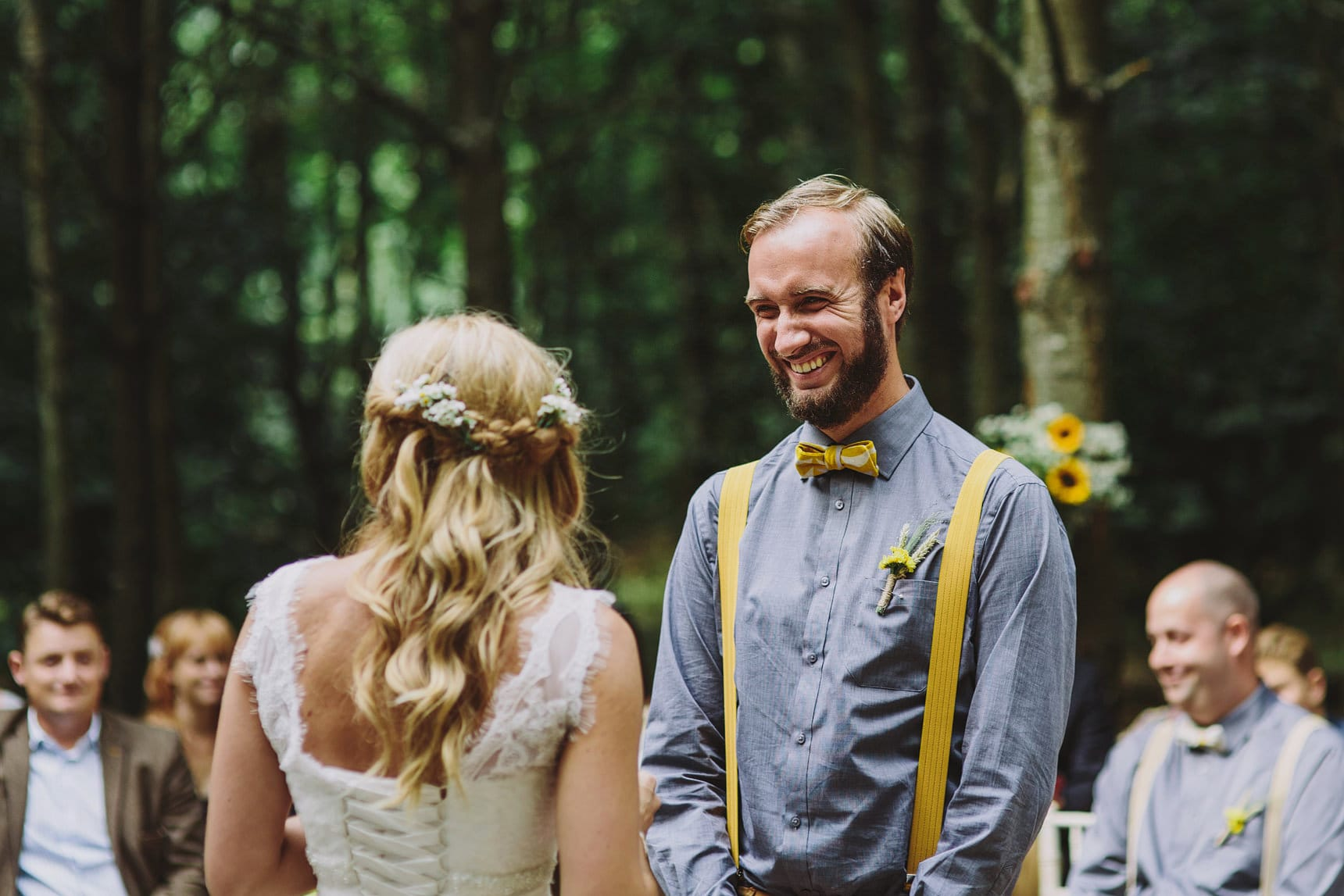 a wedding in the woods