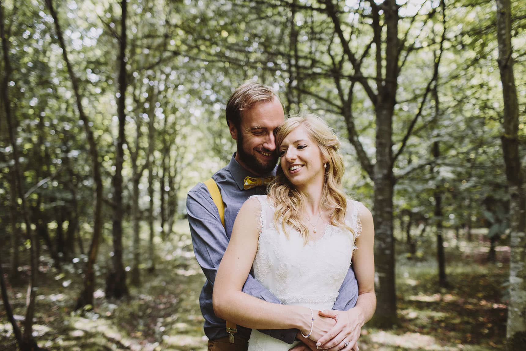 wedding portraits in the woods