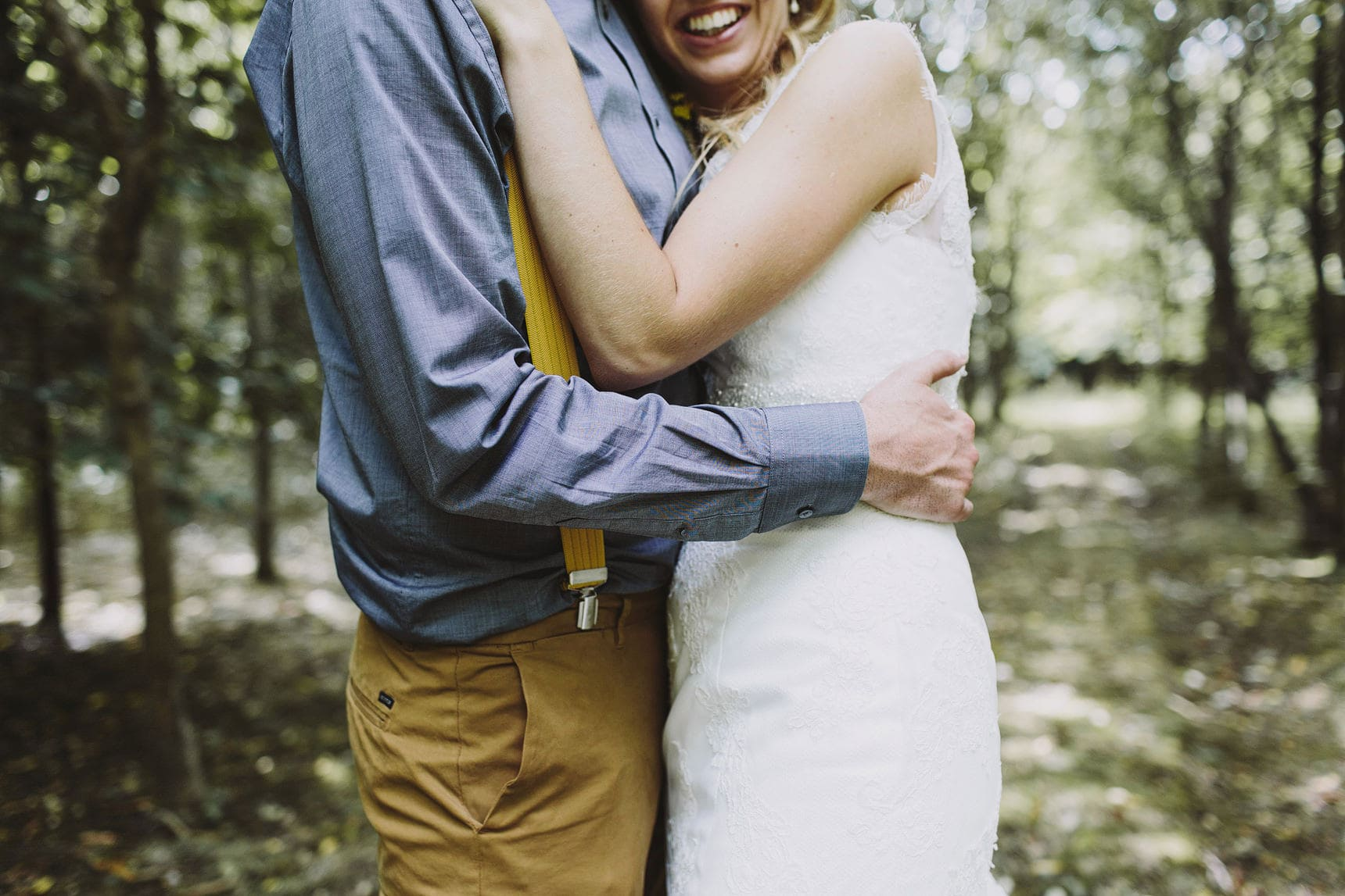 wedding portraits in the forest
