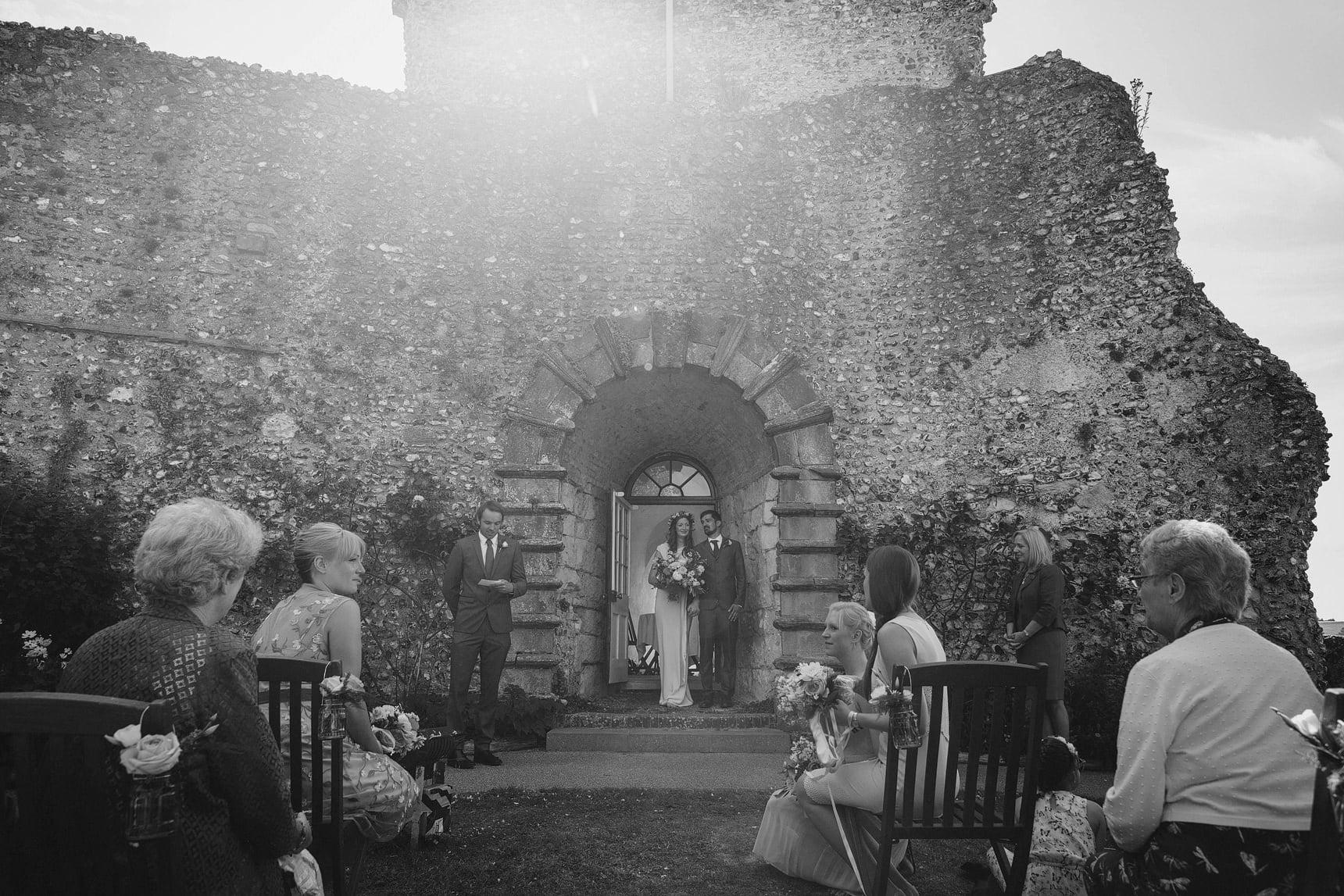 wedding at lewes castle