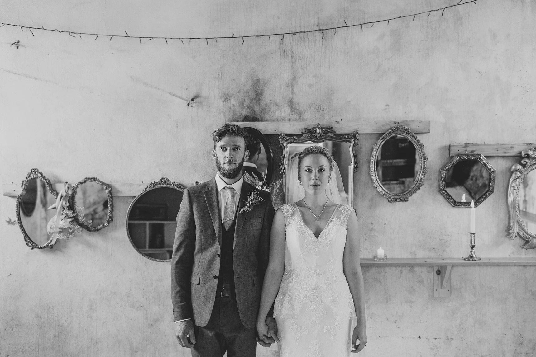 rustic barn wedding portraits