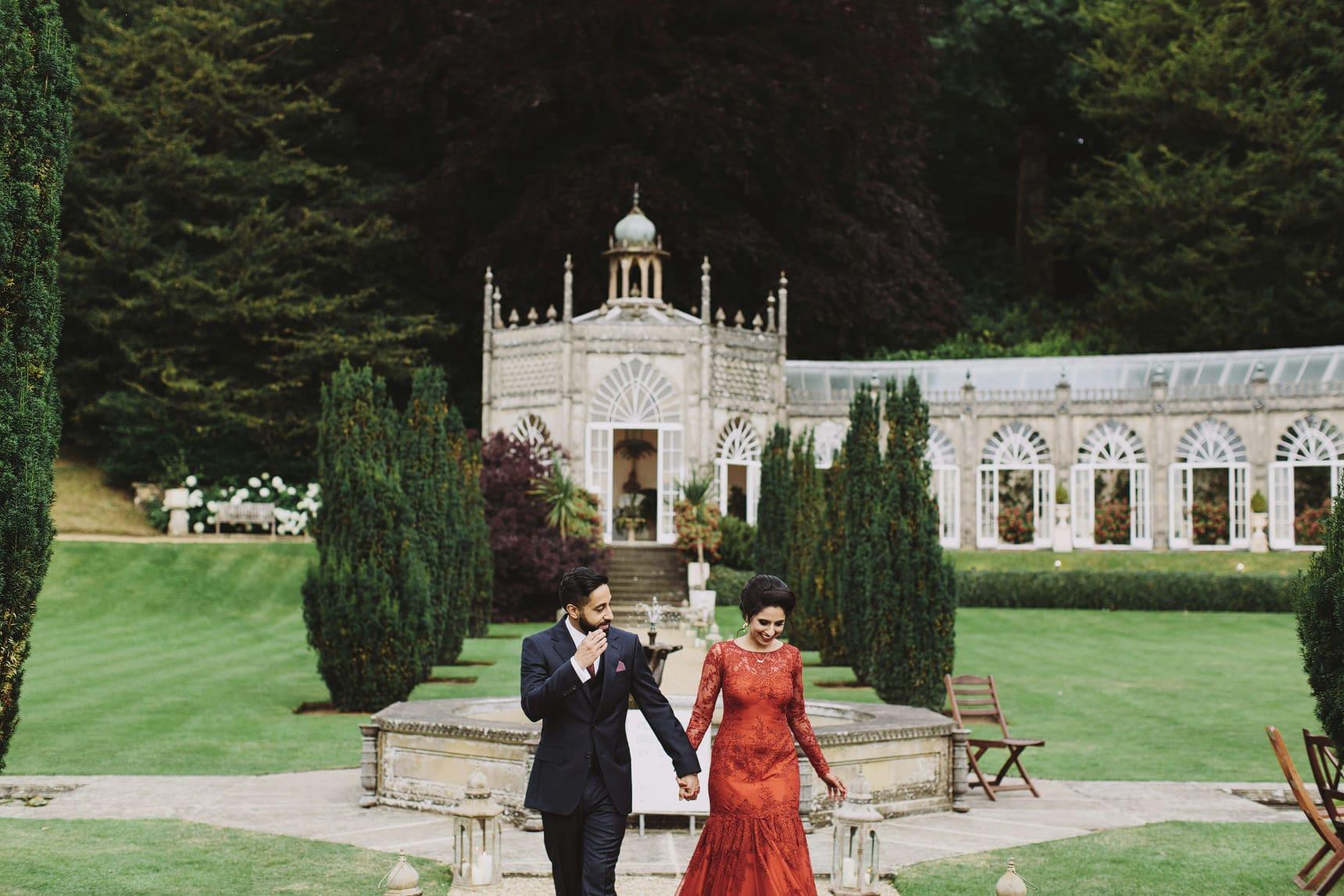 red wedding evening dress