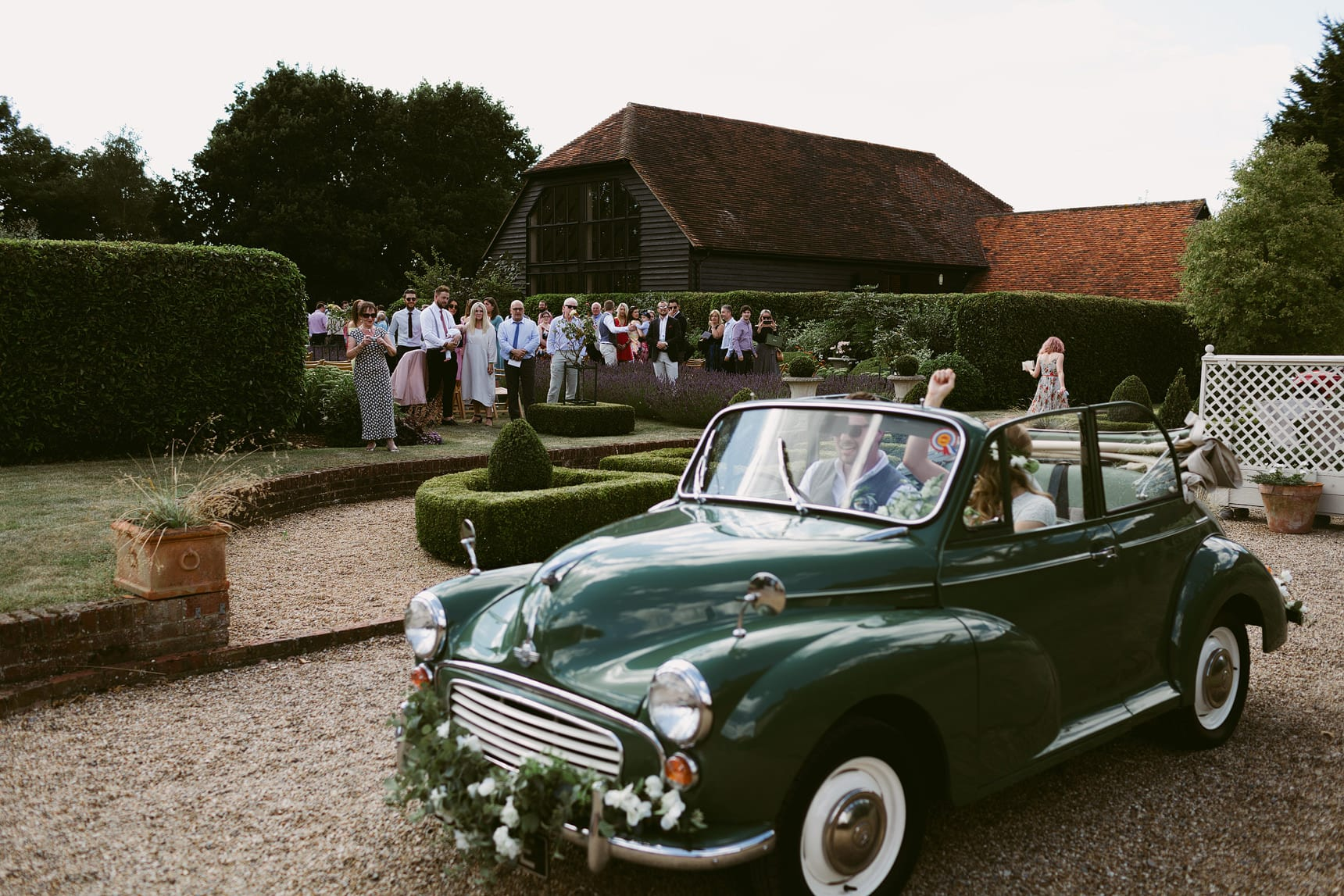 outdoor wedding at family home