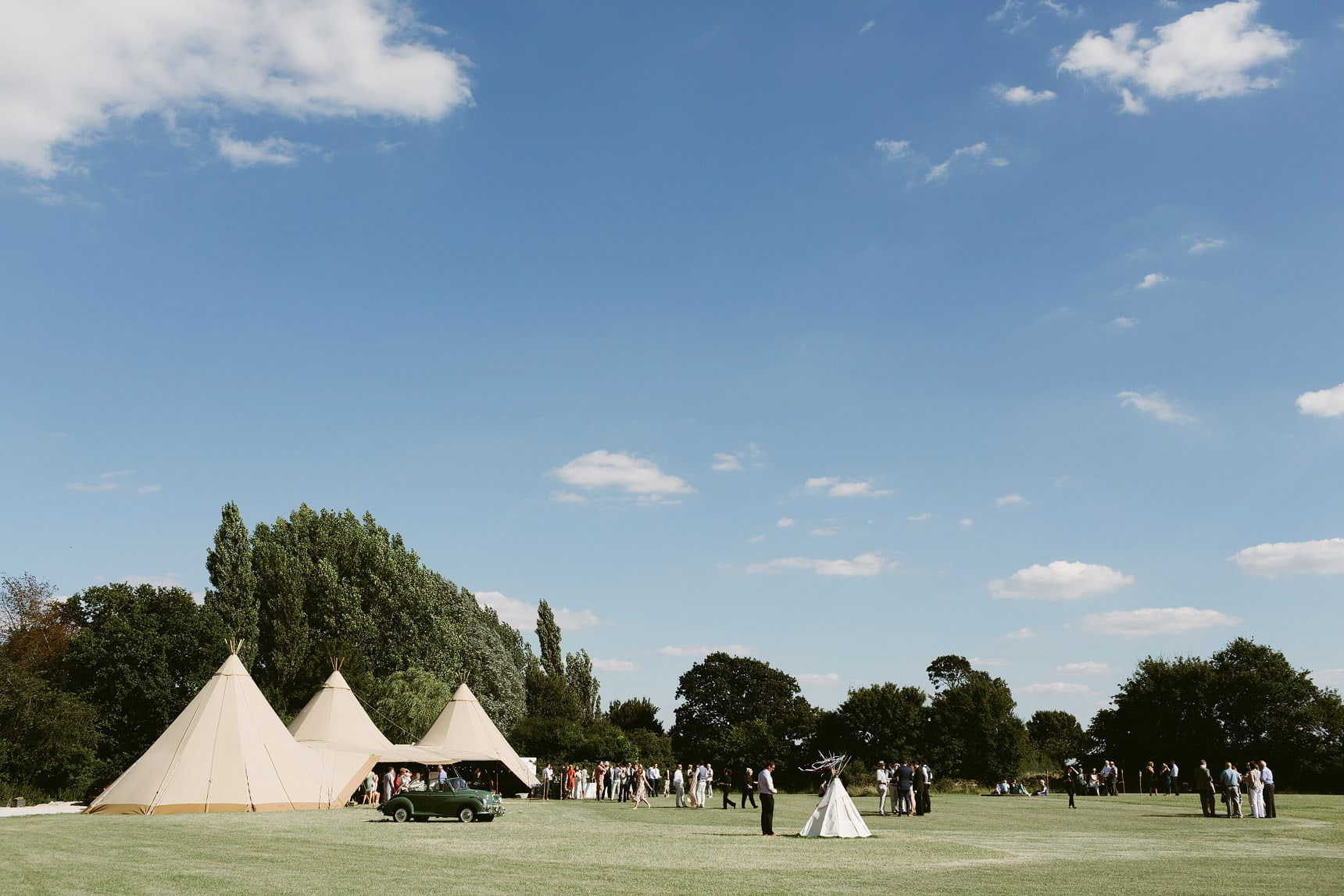 Tipi garden wedding in essex