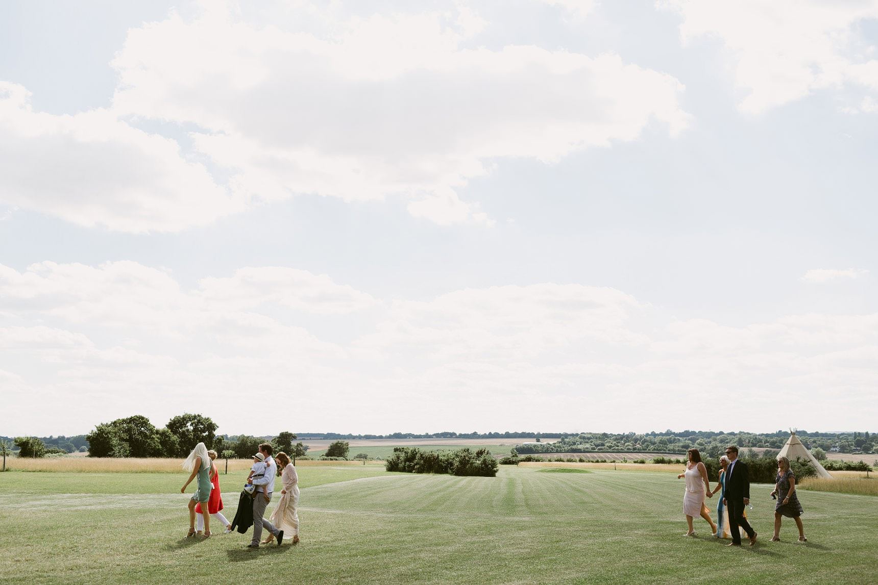 outdoor wedding in essex