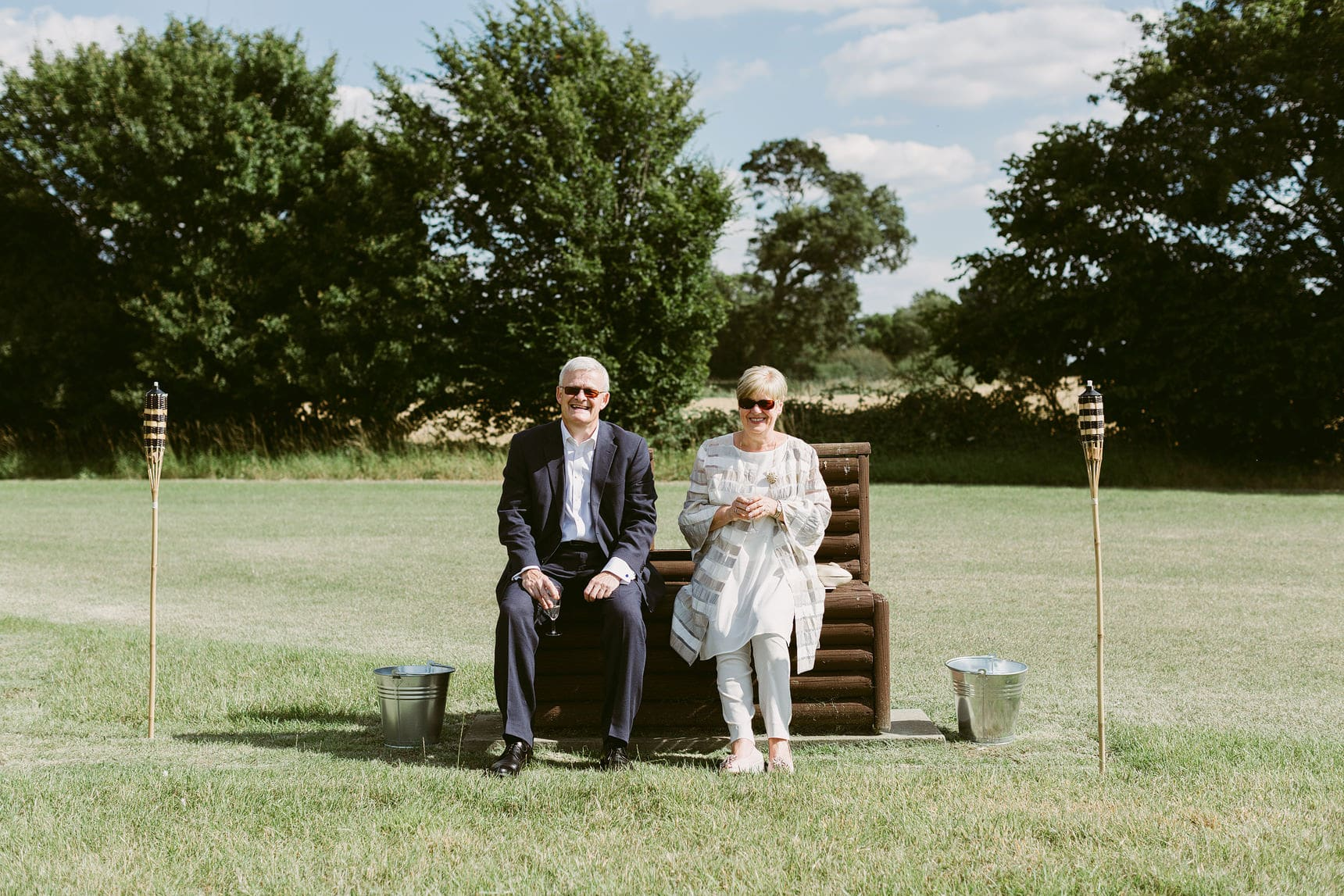 outdoor wedding in essex family home
