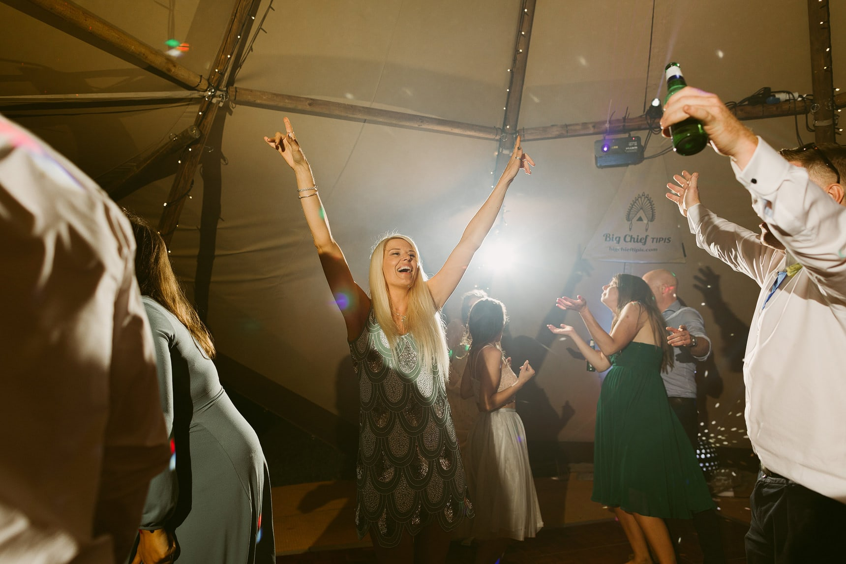 tipi wedding evening party