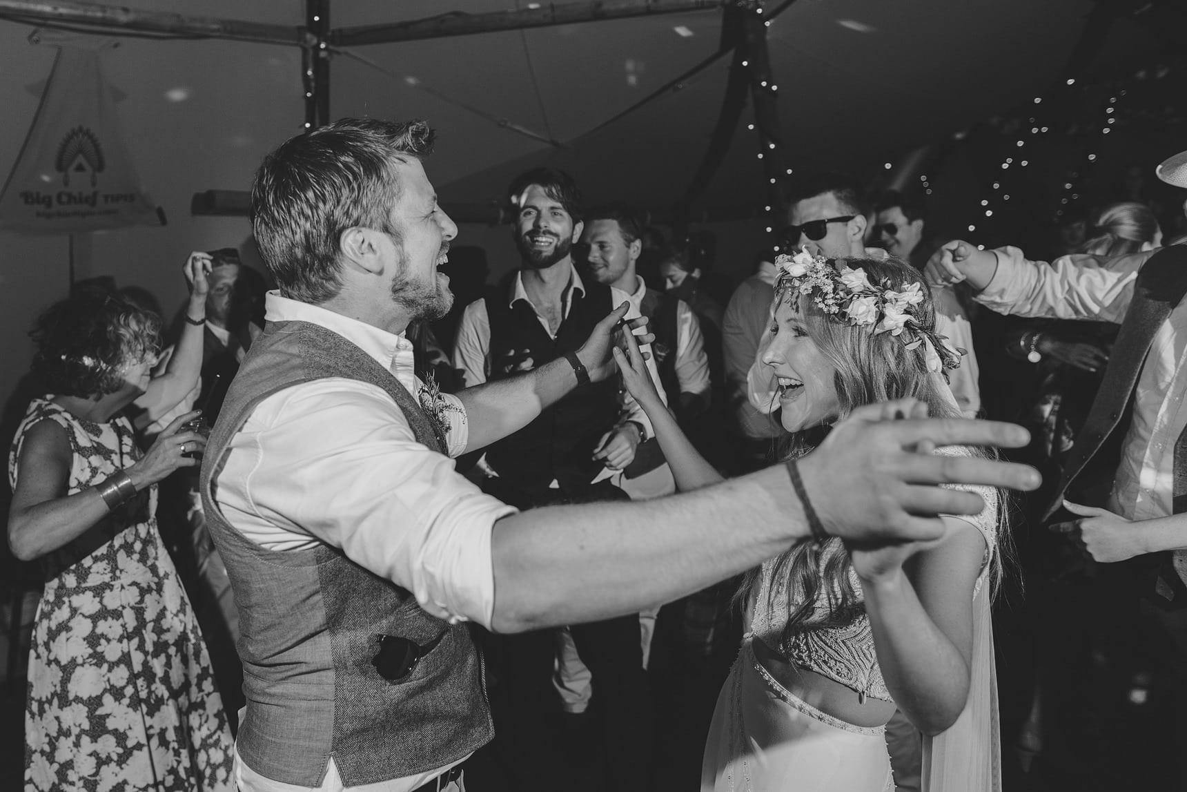 tipi wedding first dance