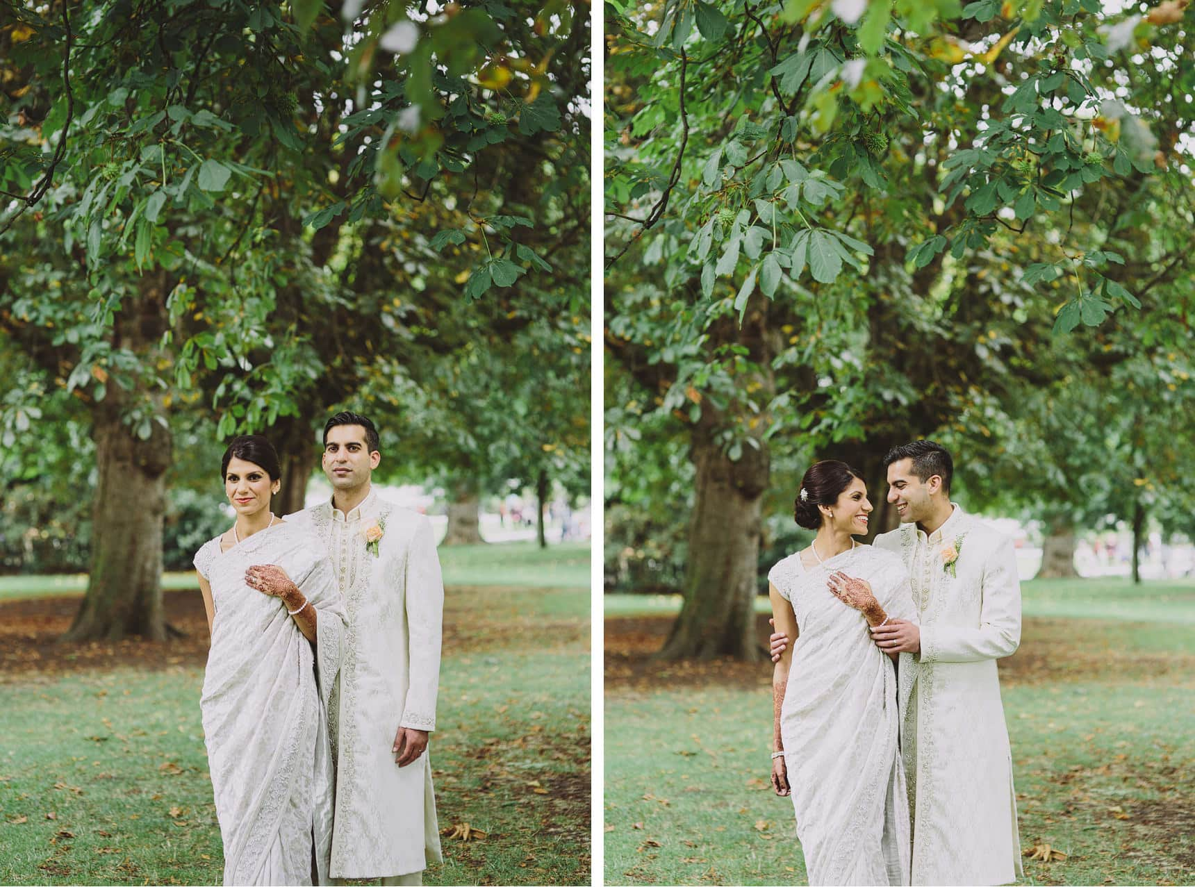 asian wedding portraits in hyde park london