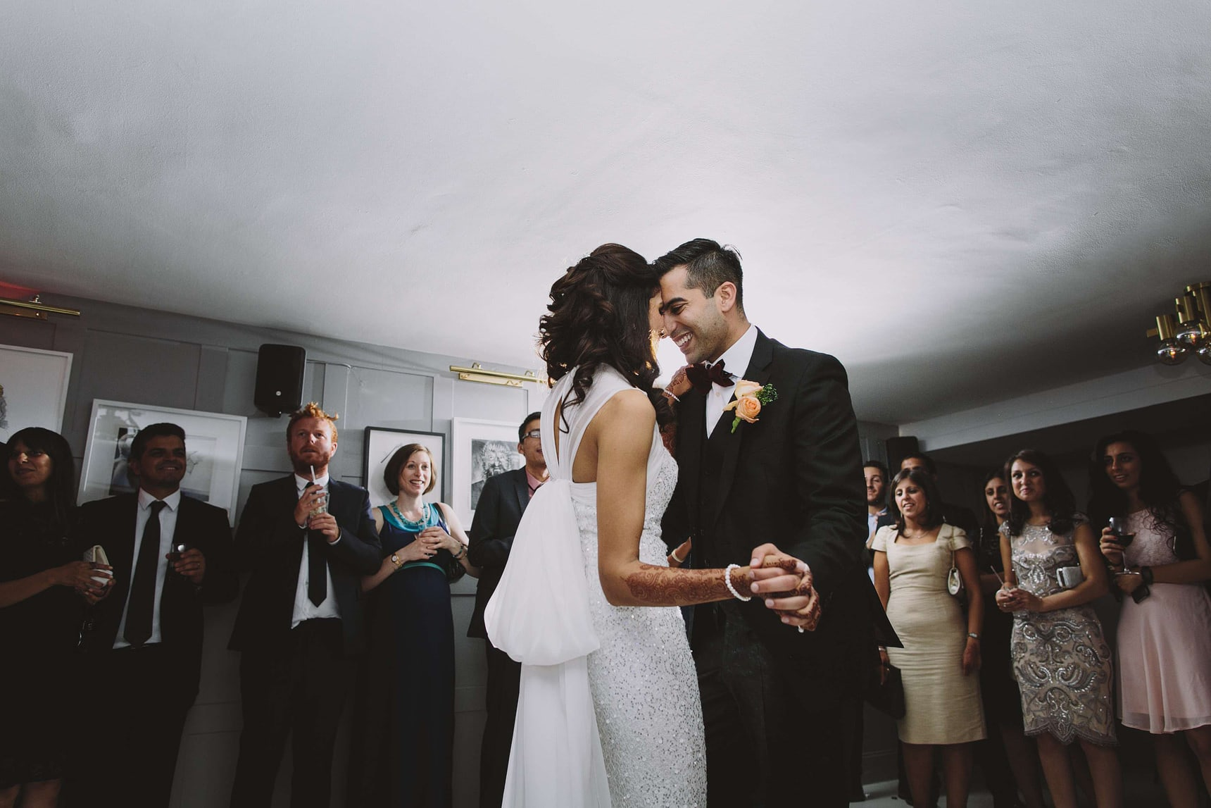 bride and grooms first dance in high road house london