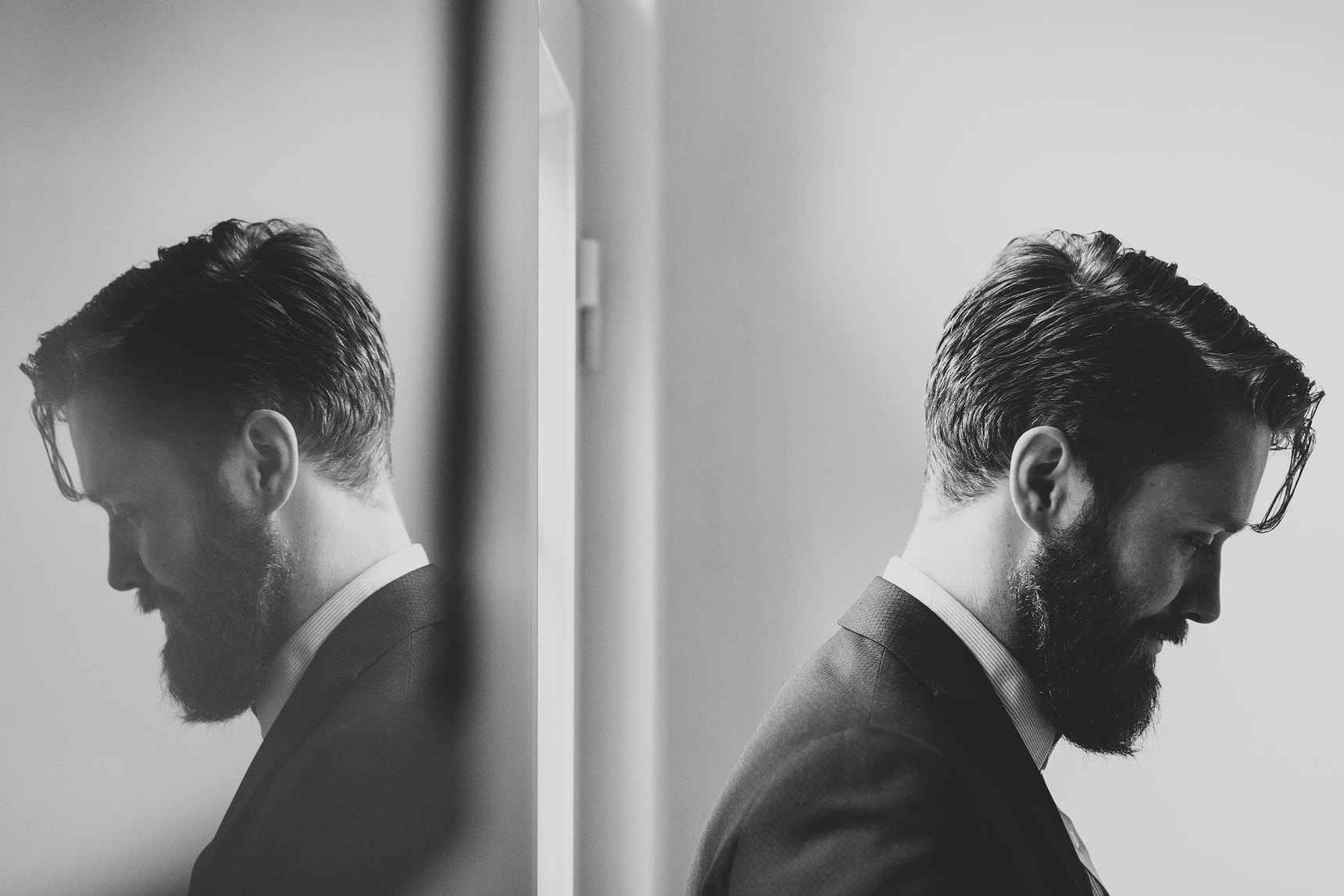reflection portrait of the best man