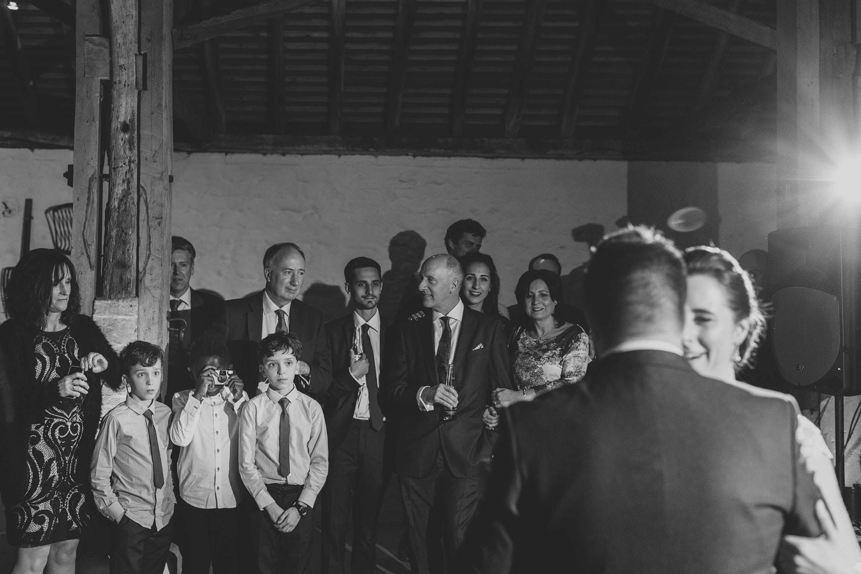 first dance at pangdean barn