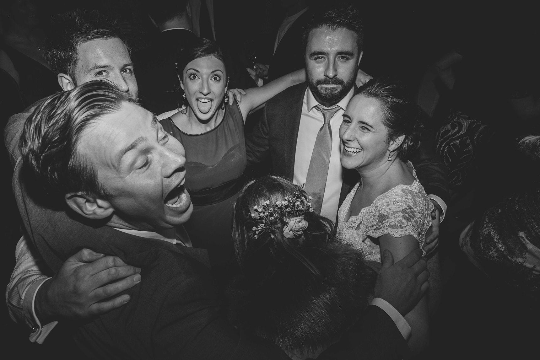 wedding party at pangdean barn