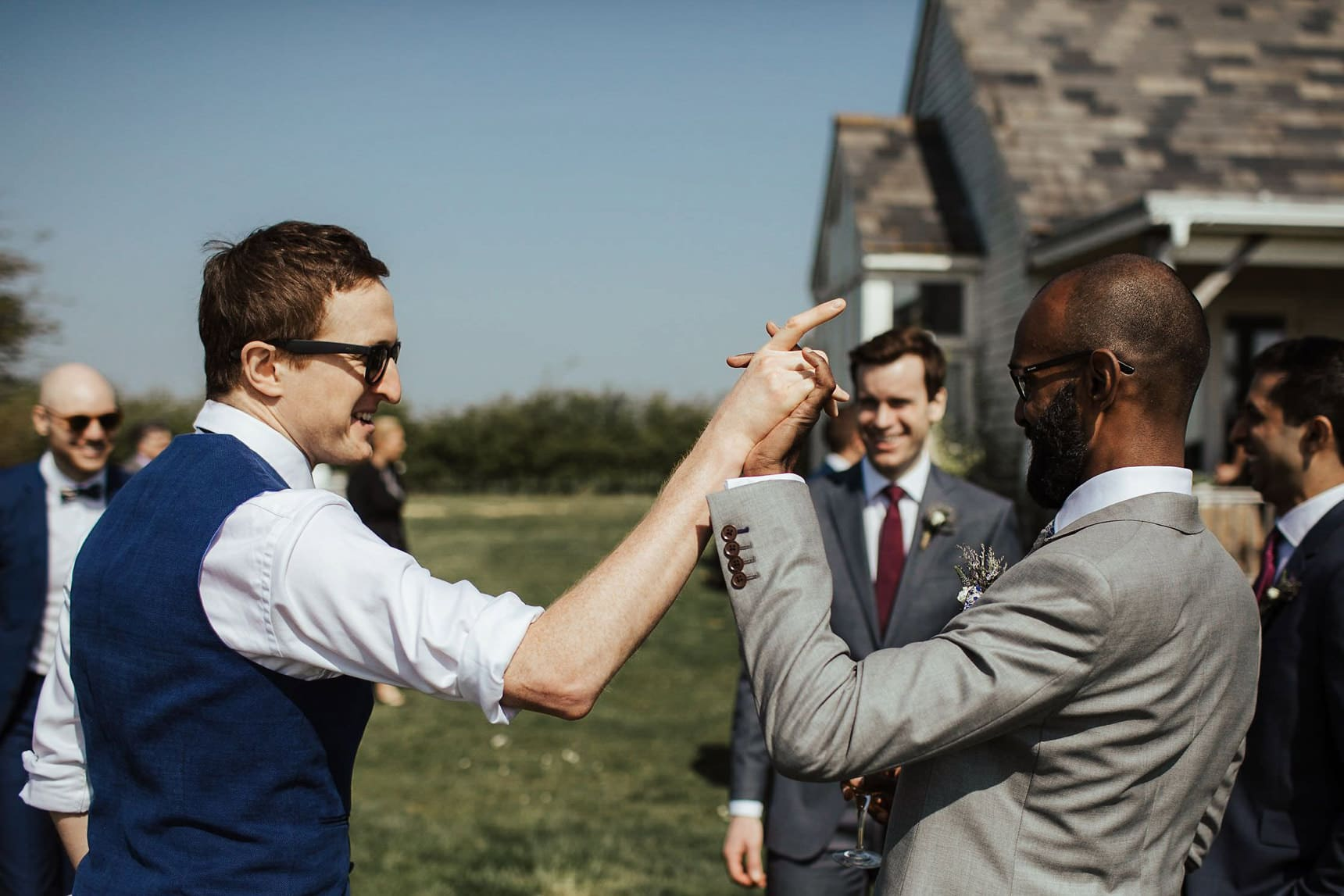 outdoor wedding osea island essex