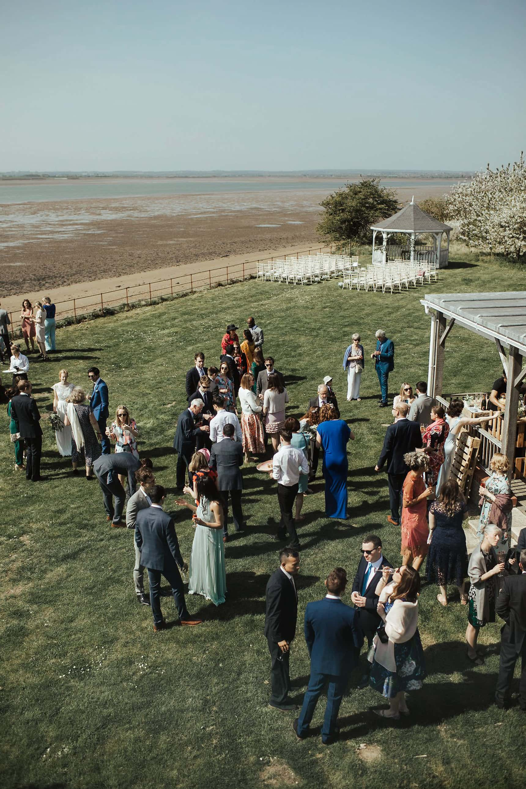 relaxed outdoor wedding osea island essex