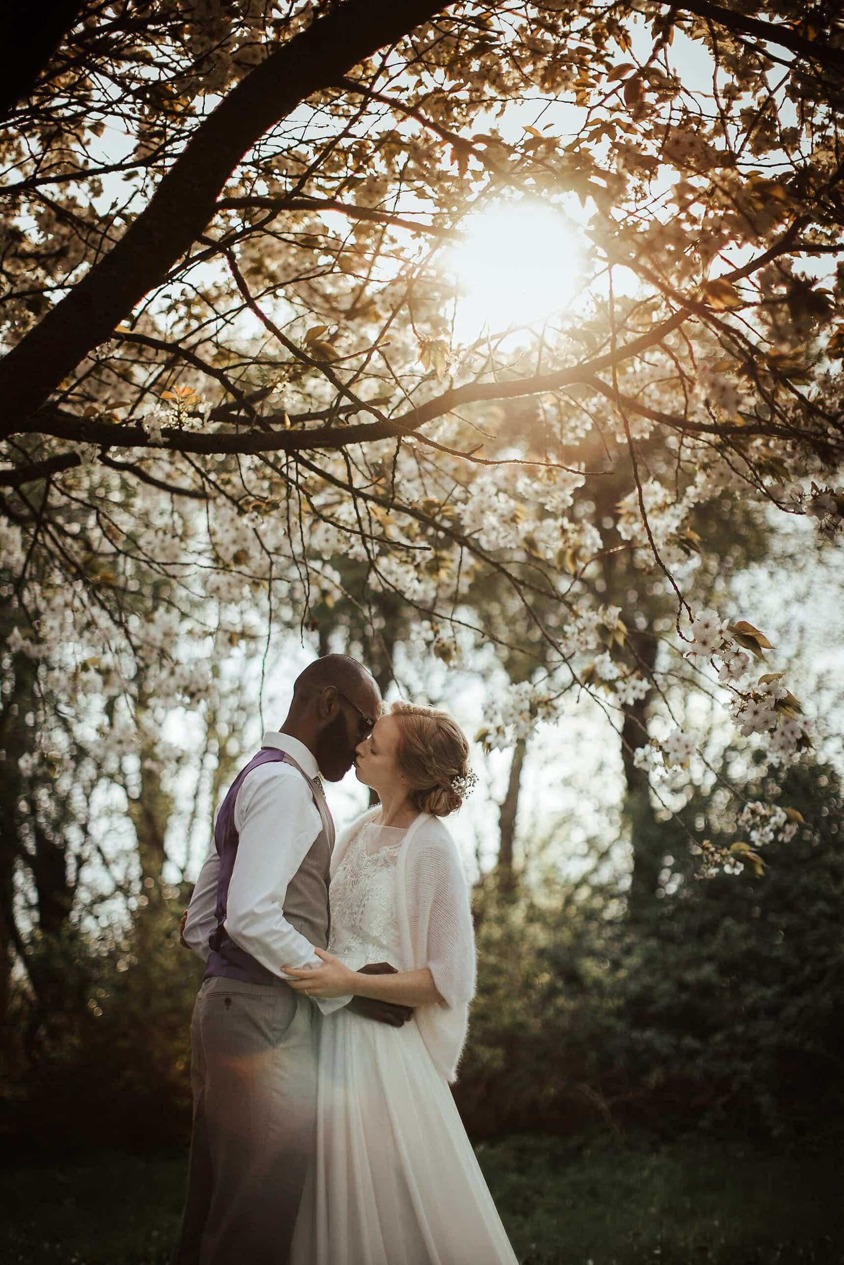 sunset wedding portraits osea island