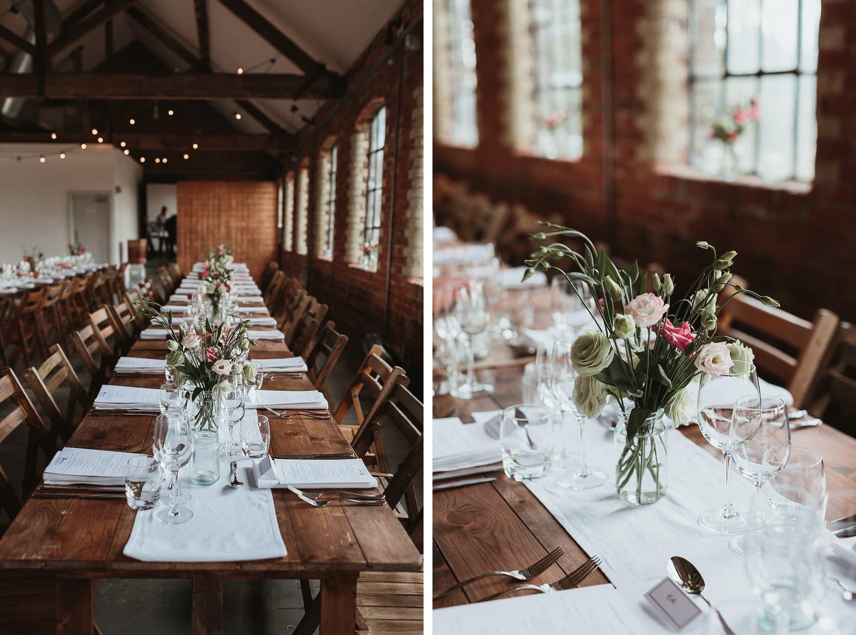 wedding details at loft studios